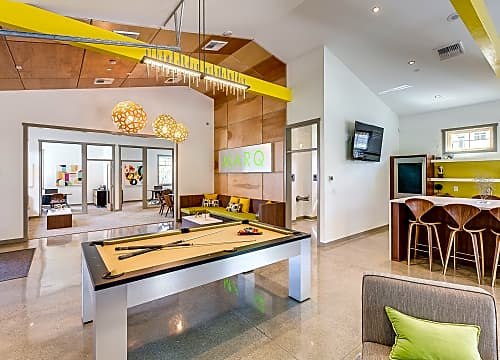 Stylish Clubhouse With Fireplace And Billiards
