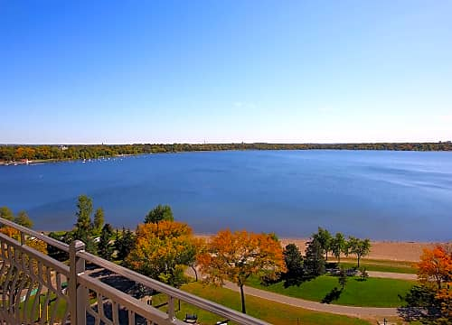 Select homes feature lake views