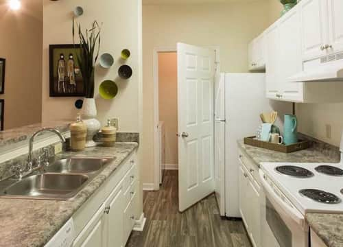 Beautiful galley style kitchen fit for any gourmet chef