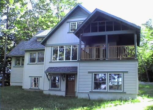 Lake side of house, summer