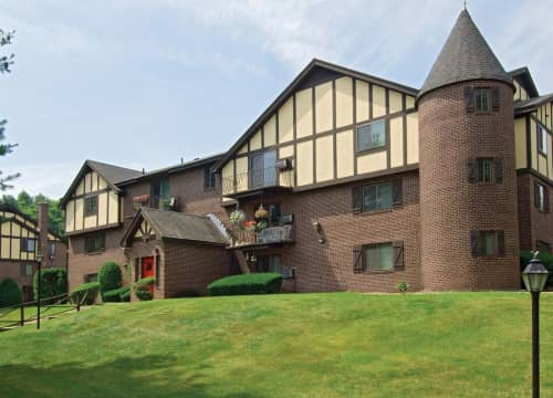 Tudor-style apartment homes