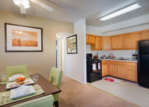 Walker Mill Apartments Kitchen Dining