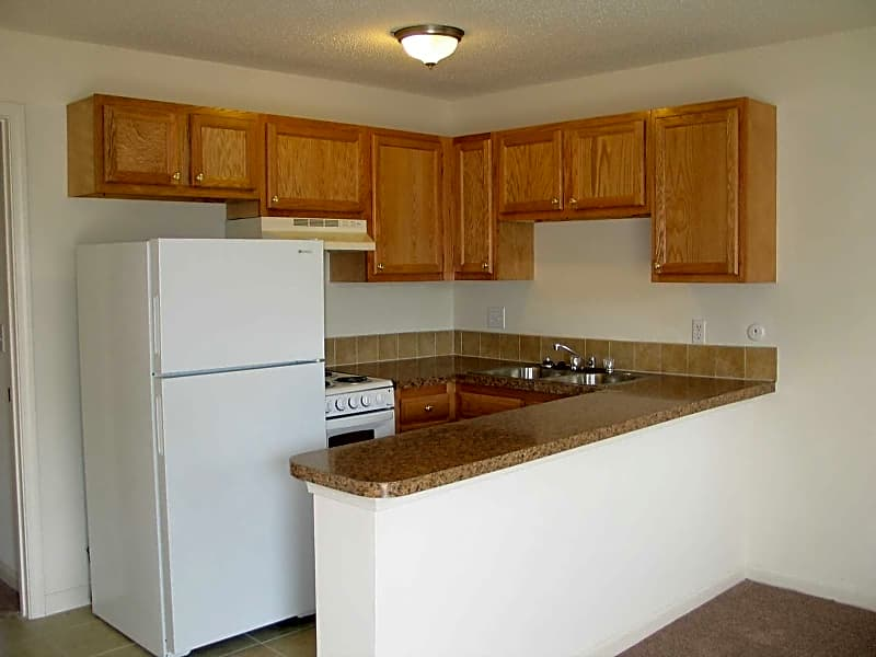 Renovated apartments include new kitchens