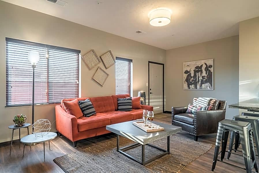 Enjoy ample natural lighting and modern light fixtures.