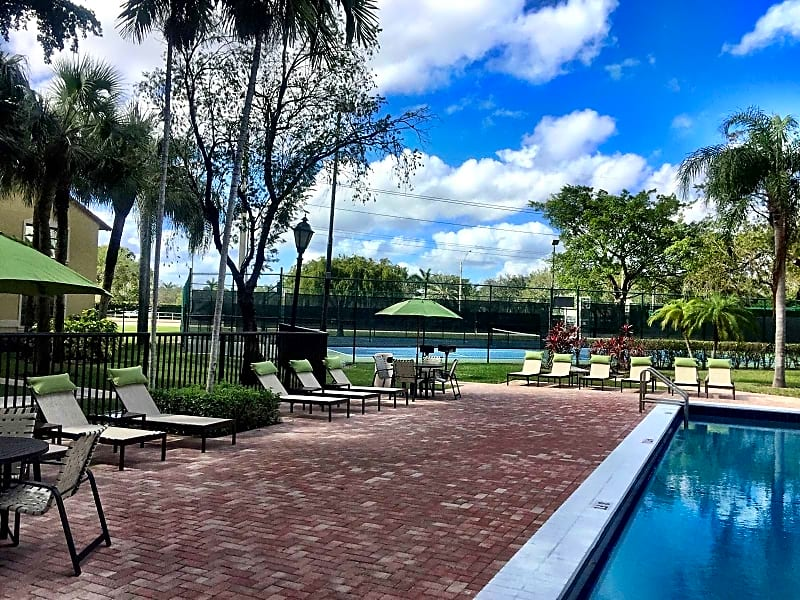 Outdoor Pool With New Patio Furniture