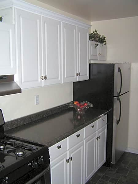 Convenient kitchen with stainless steel appliances