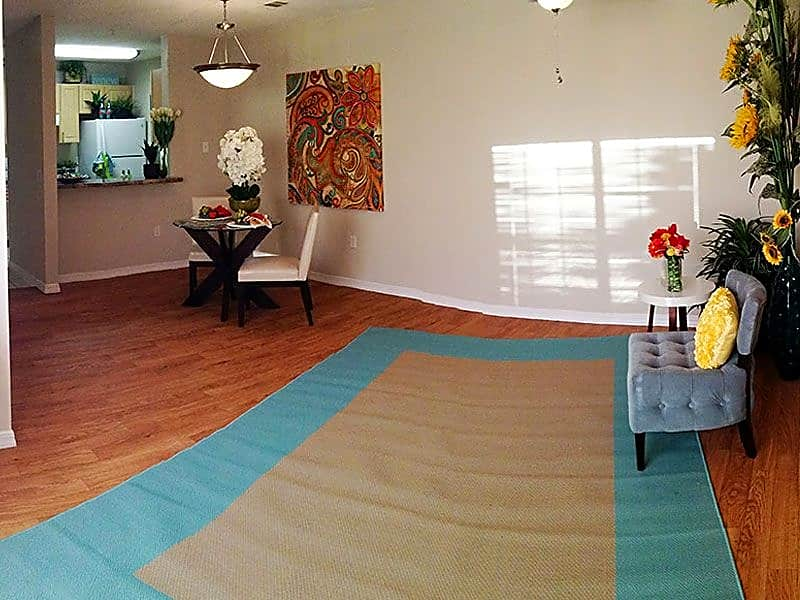 Open Floorplans with wood-grain flooring in select apartments!
