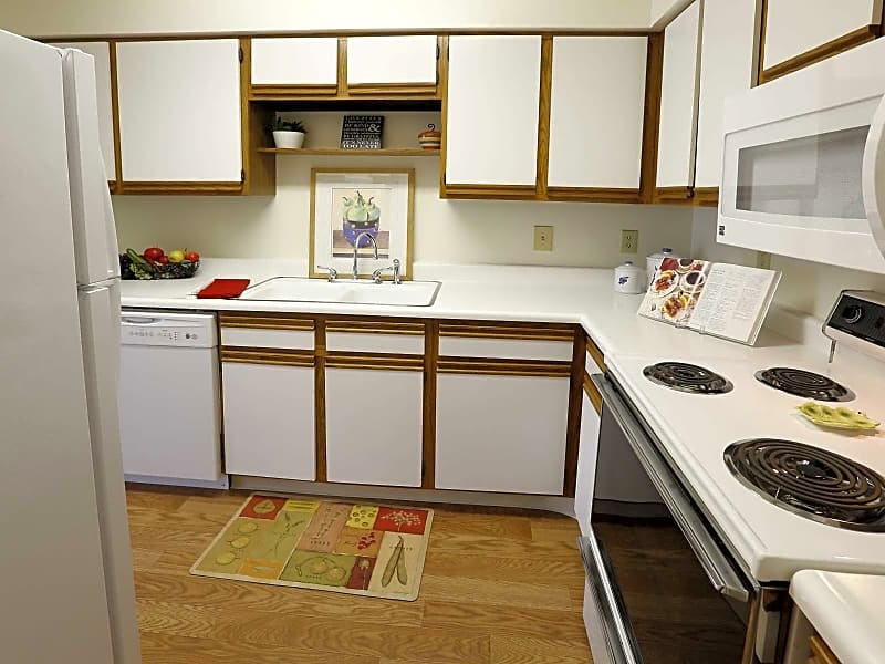 Walk-Through Kitchen Includes Built-In Microwave