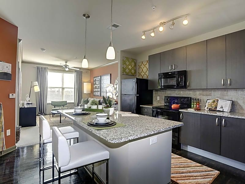 Open concept living allows for space to spread out and entertain