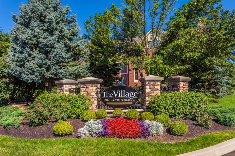 The Village on Spring Mill apartments in Carmel IN