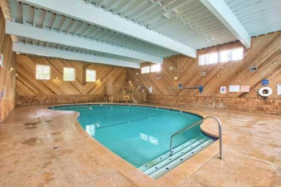 Lagoon Style indoor pool!