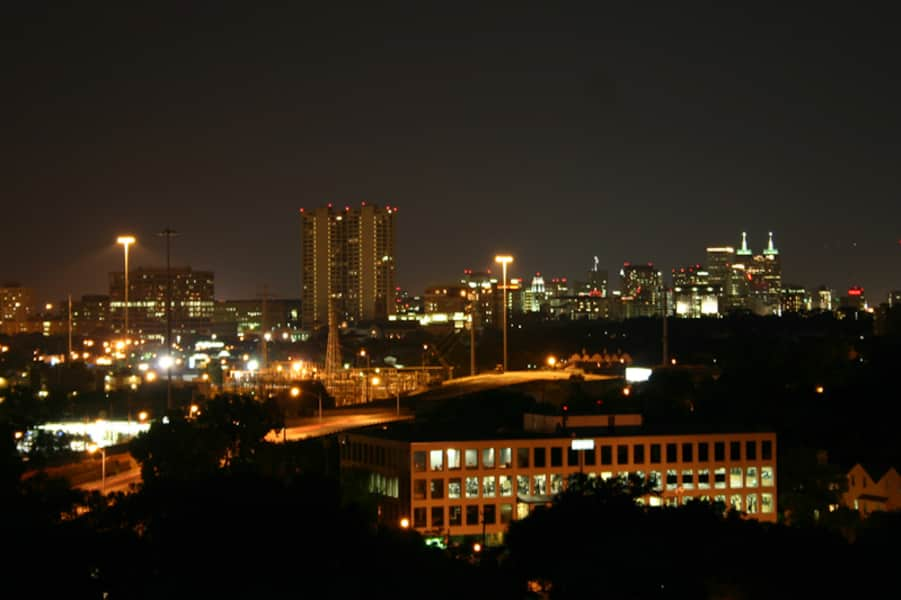 One of the Spectacular Nighttime Views of Downtown Houston from 230 West Alabama Apts (2)