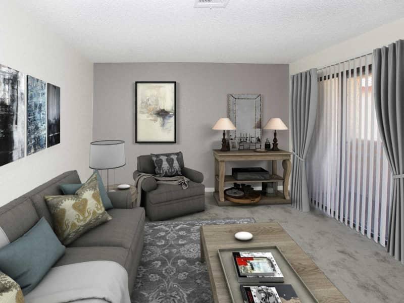 1x1 Living Room w/ Furniture