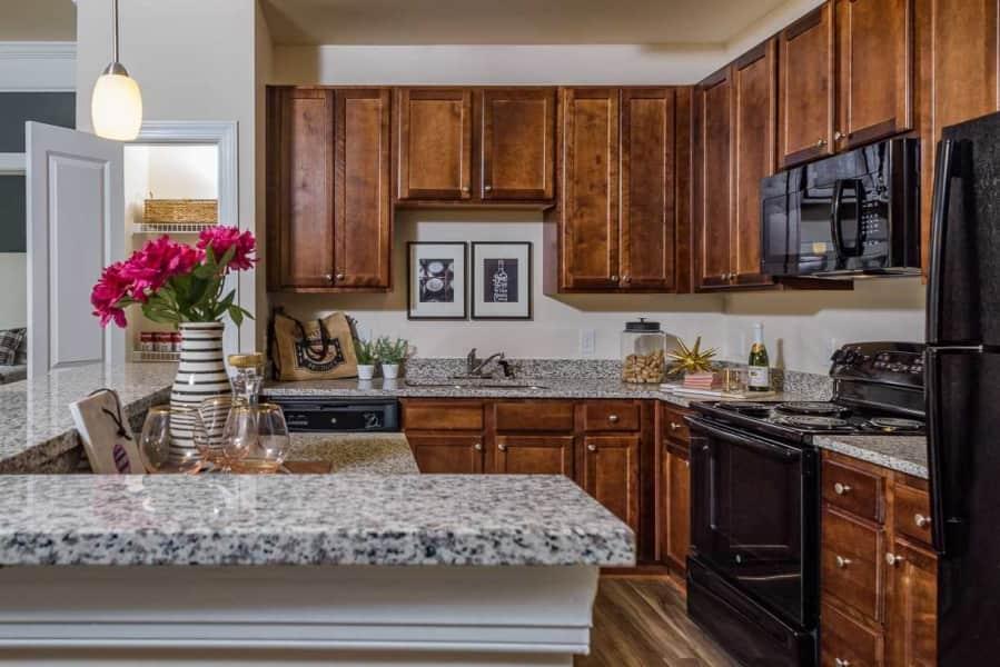 Stunning kitchens with granite.