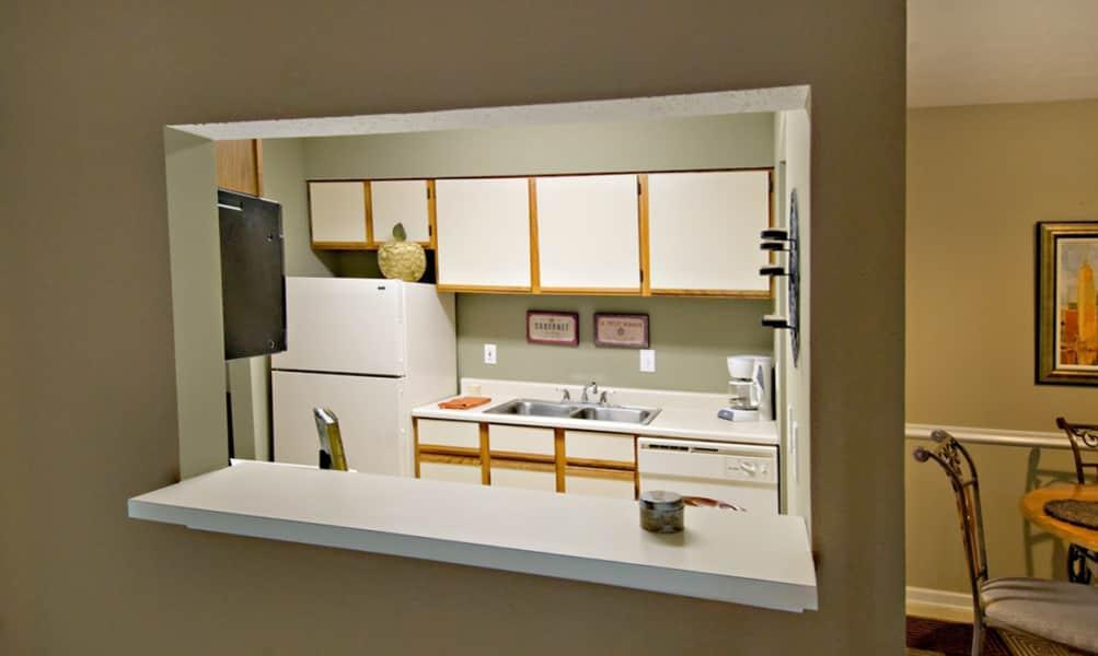Kitchen in 2 Bed- 1 Bath Apartment