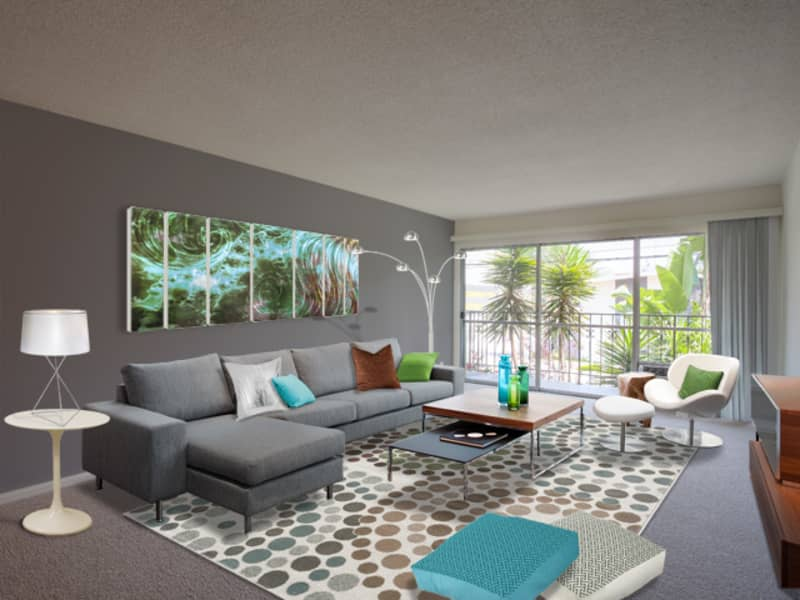 Living Room at Mediterranean Village West Hollywood