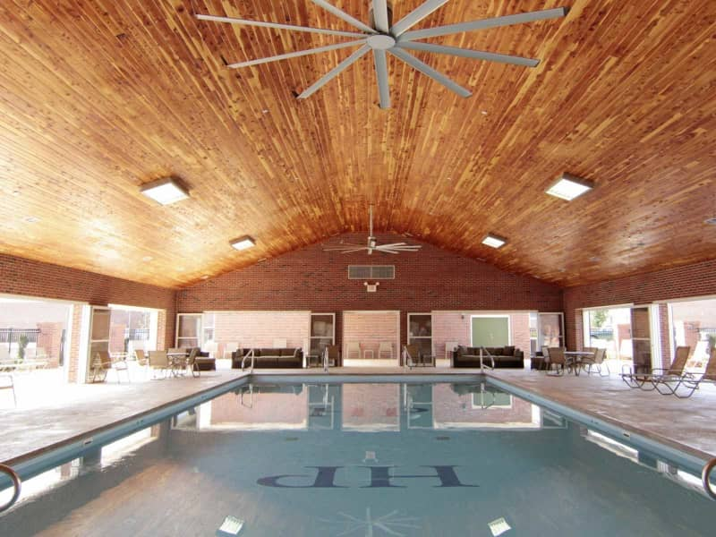 Heated indoor/outdoor pool