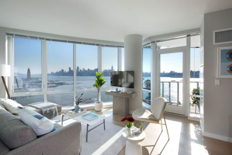 Exquisitely appointed residences, featuring floor to ceiling windows.