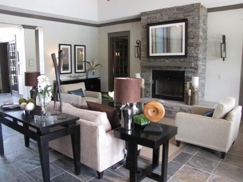 Lobby Interior at The Enclave at Woodbridge Apartments in Sugar Land, TX