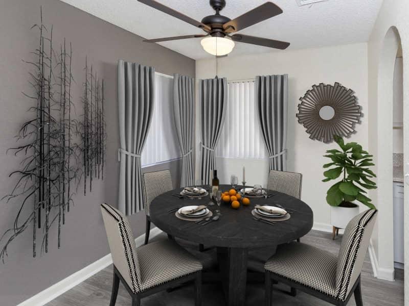 1x1 Dining Room w/ Furniture