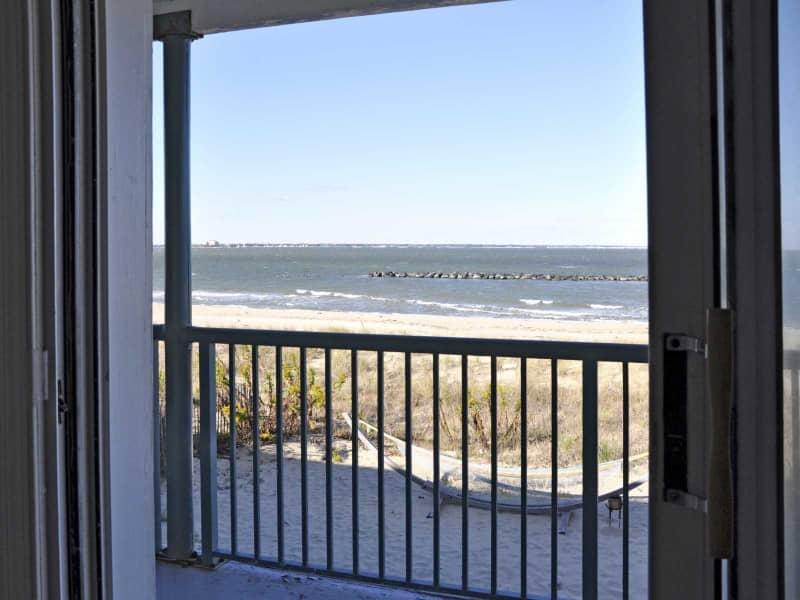 Balcony with beach views