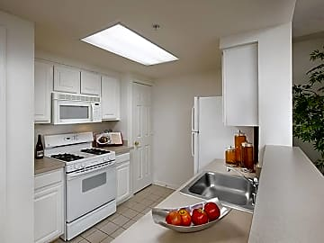 One-bedroom apartment kitchen
