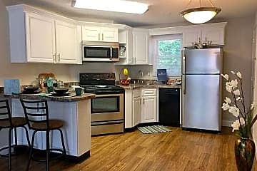 Newly remodeled kitchens with stainless steel appliances, breakfast bar and plenty of cabinets and counter space.