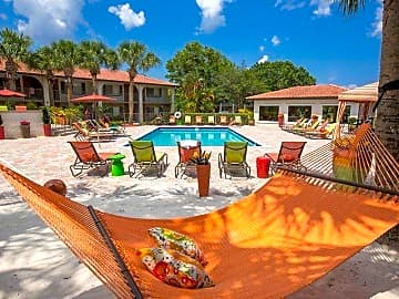 Relax in one of our poolside hammocks and soak in the sun.