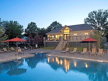 Our Beautiful New Pool and Clubhouse at Dusk