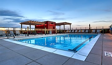 Hang out at the rooftop pool and social deck