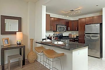 One-Bedroom Kitchen and Dining Area