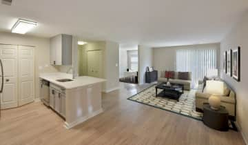 Open floorplans with wood flooring throughout