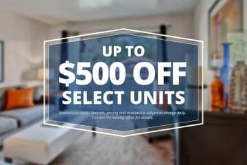 Specials savings coupon $500 off