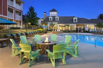 Poolside Fire Pit with Cozy Seating