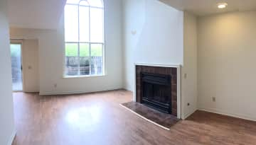 Living Room with cathedral window