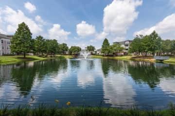Beautiful Community Lake with Fountain
