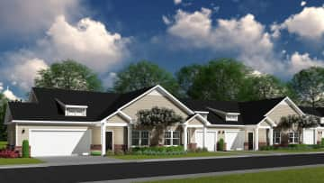 River Oaks features open concept, single level, 2 bedroom, 2 bathroom cottage apartments
