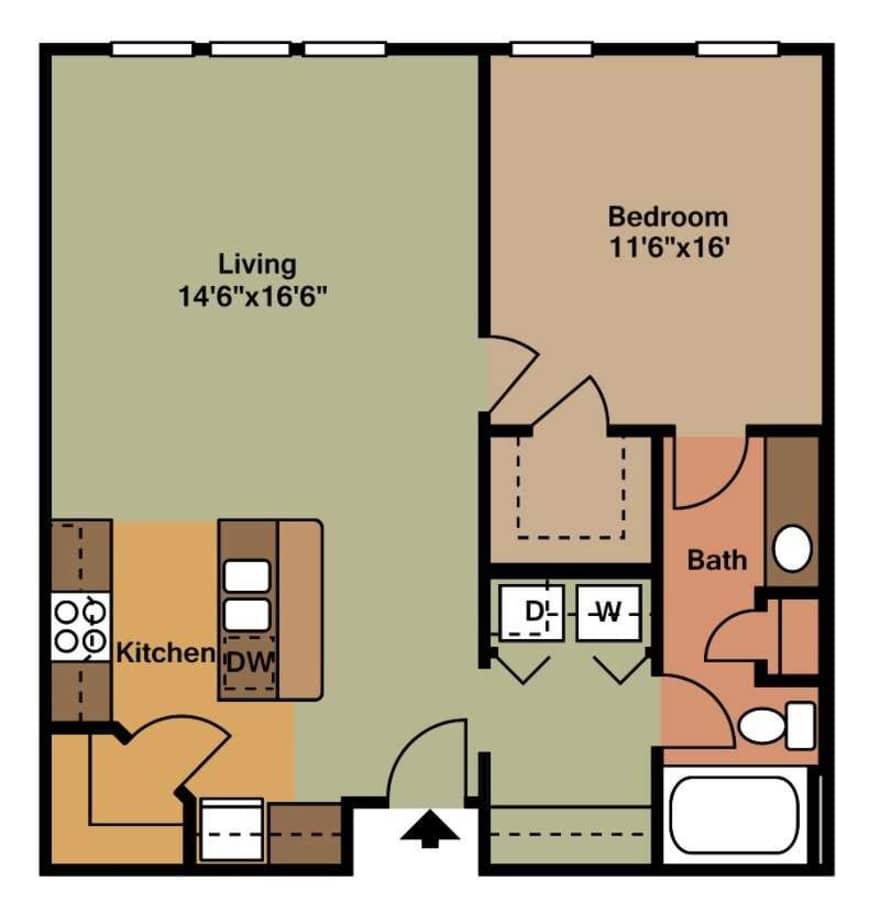 Fielder Square Apartments Floor Plans