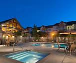 Pool, The Hawthorne Apartments