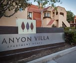 Community Signage, Canyon Villa Apartments