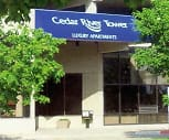 Exterior, Cedar River Tower Apartments