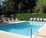 Sparkling pool, Riverside Villa