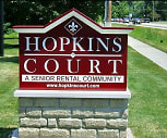 Community Signage, Hopkins Court Apartments