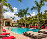 Beach-entry Swimming Pool and Spa with Cabanas and Hammocks, Bell Pembroke Pines