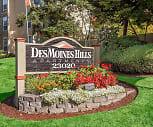 Monument Sign, Des Moines Hills Apartments