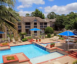 Multi-level pool with cascading fountain, Memorial Fountain Apartments