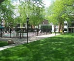 Beautiful tree lined courtyard, Olympik Village