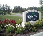 Sign, White Pines-Harrison