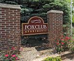 Community Signage, Fox Club Apartments