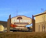 Sign, Elm Court Apartments